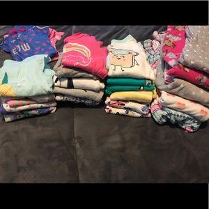 HUGE 4 toddler PJ bundle! Most never worn